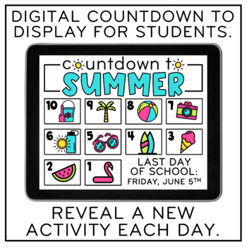 Countdown to Summer (End-of-the-Year Printables)