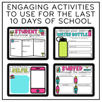 Countdown to Summer | End of the Year Activities | Distance Learning
