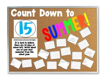 Countdown to Summer (Last 15 days of school)