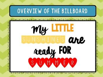 Countdown to Summer Printable Billboard
