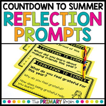 Countdown to Summer Reflection Prompt Cards