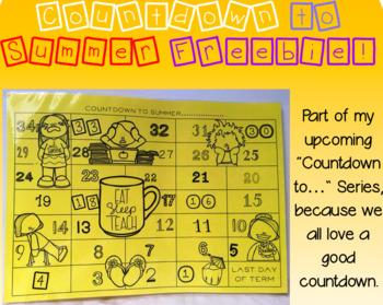 Countdown to Summer Teacher Version FREEBIE