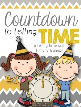 Countdown to Telling Time {A Telling Time to the Nearest Five Minutes Unit}