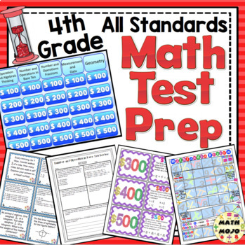 4th Grade Math Test Prep: Countdown to Testing! All Standards Review