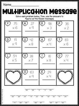Countdown to Valentine's Day ELA & Math Printables