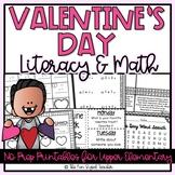 Valentine's Day Literacy & Math Printables