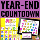 Countdown to the Last Day of School   Editable ABC Countdo