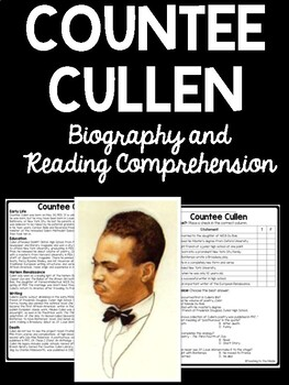 Countee Cullen Biography Reading Comprehension Harlem Renaissance Heritage
