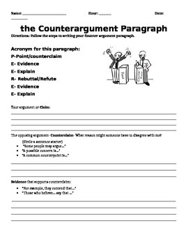 Counter Argument Paragraph