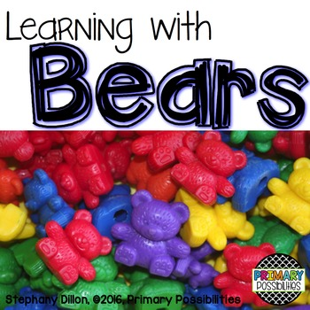 Counter Bear Activity Printables for First Grade {Ready, Set, Print!}