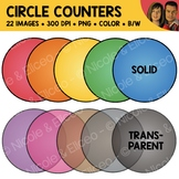 Circle Counter Chips Clipart