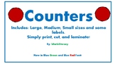 Counter Manipulatives-Bilingual-Includes 2 version fonts!