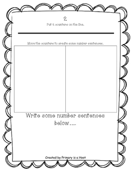 Counter Number sentences