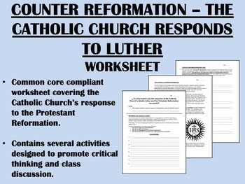 Counter Reformation - Catholic Church Response to Luther - Global Common Core