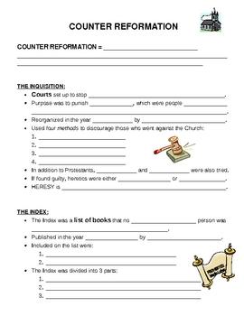 Counter Reformation - Worksheet