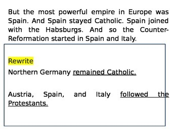 Counter-Reformation and 30 Years War (Reading & Activity)