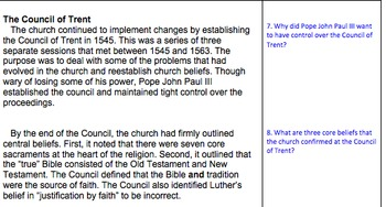Counter Reformation close reading