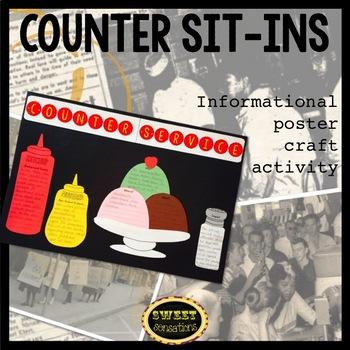 Counter Sit-Ins (Black History; civil rights; non-violent protest) 4-7