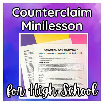 Counterclaim Worksheet Teaching Resources Teachers Pay Teachers