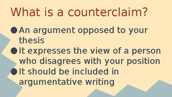Counterclaim Notes