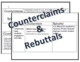 Counterclaim & Rebuttal Stems & Practice Activity