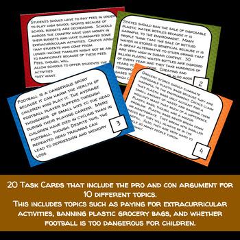Counterclaim Task Cards