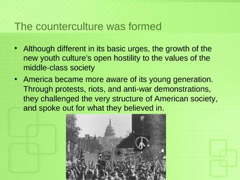 Counterculture and the 1960s/ Beat Generation/Hippies