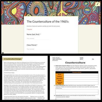 United States 1960's Lesson: Counterculture of the 1960's