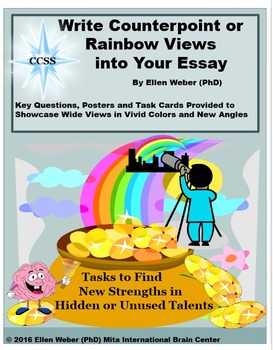 Counterpoint Essays through Rainbow Views - CCSS Aligned Task Cards and Posters