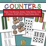 Counters Coins, Base Ten Blocks, Tally Marks, Ten Frames, Tens and Ones