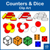 Counters & Dice Clip Art