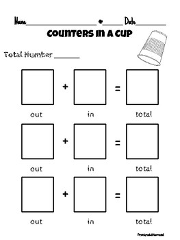Counters in a Cup: Missing Addend