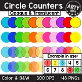 Counters transparent / translucent & opaque Clipart Math {