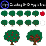 Counting 0-10 Apple Tree Clip Art - 2 styles + BW 44 Clips