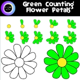 Counting 0-10 Bright Green Flower Petals /Yellow Center &