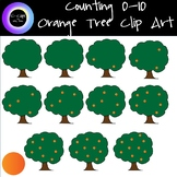 Counting 0-10 Orange Tree Clip Art 23 Clips Customizable