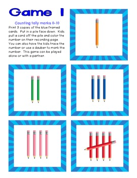 Counting 0-10 Tally Mark Pack