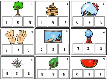 Counting 0-10 Task Cards- All Year