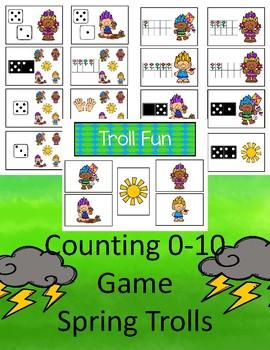 Counting 0-10 - Troll Fun Game  (Spring)