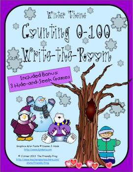 Counting 0-100 (Winter Theme): Write the Room
