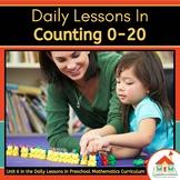 Counting 0-20 Preschool Math Bundle
