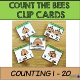 Counting 0-20 Clip Cards: BEES