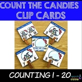 Counting 0-20 Clip Cards: CANDIES IN A JAR