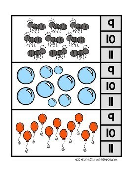 Counting 0-20 Clip Cards by Education and Inspiration