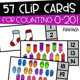 Counting 0-20 Clip Cards