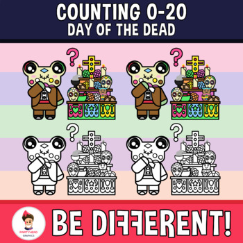 Counting 0-20 Clipart (Day Of The Dead)