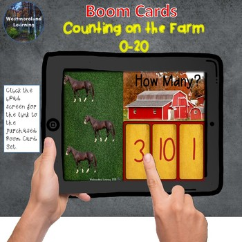 Counting 0-20 Digital Interactive Boom Cards Farm Set