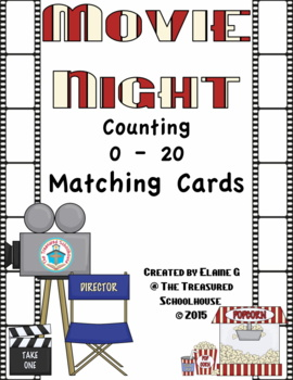 Counting 0-20 Flipbook Cards - Movie Night and Popcorn