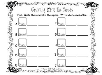 Counting 0-100 (Summer Theme): Write the Room