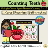 Counting 0 to 10 Apples Teeth Fall Autumn BOOM Cards™ Task Cards
